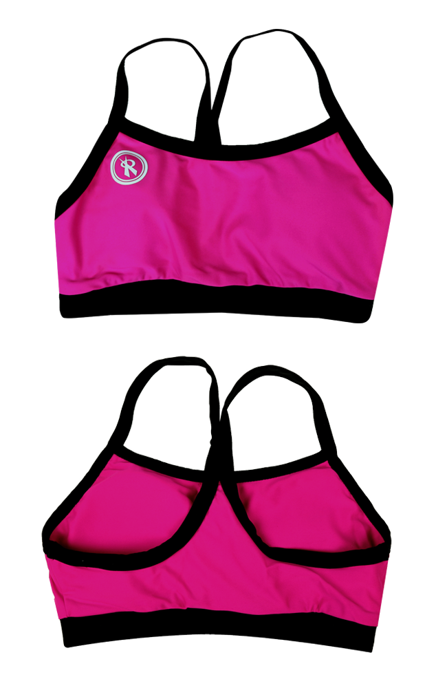 Maia Top  | 1466 | Fuchsia/Black,Closeout - Rox Volleyball