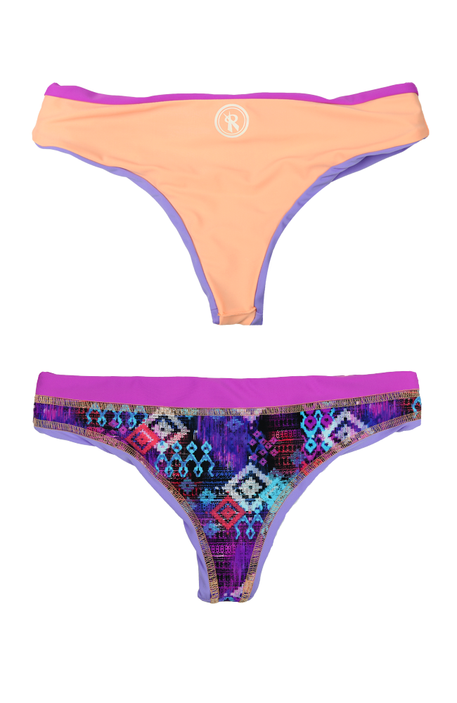 Quad Bottom | 1484 | Purple Patch Reversible,Beach Bottoms - Rox Volleyball