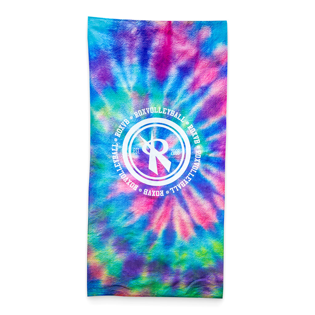Happy Tie Dye Beach Towel