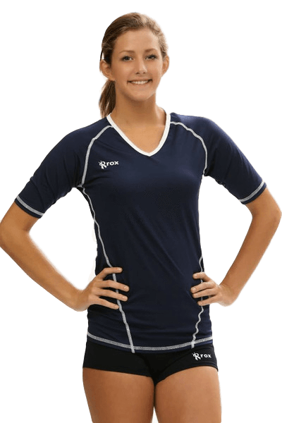 Compliant 1/2 Sleeve Jersey | 1365 Navy,Women's Jerseys - Rox Volleyball