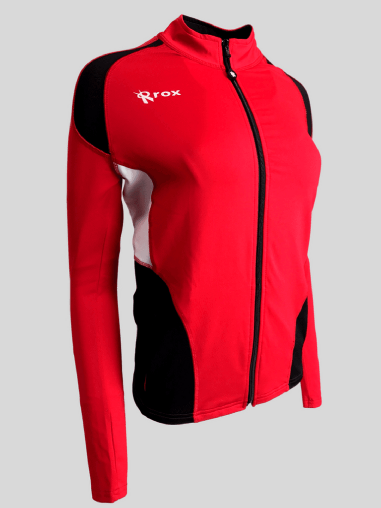 Push 1 Womens Volleyball Jacket | Red | 1372,Women's Jacket - Rox Volleyball