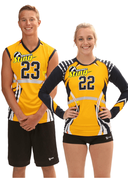 Vertigo Men's Sublimated Short Sleeve Jersey,Custom - Rox Volleyball