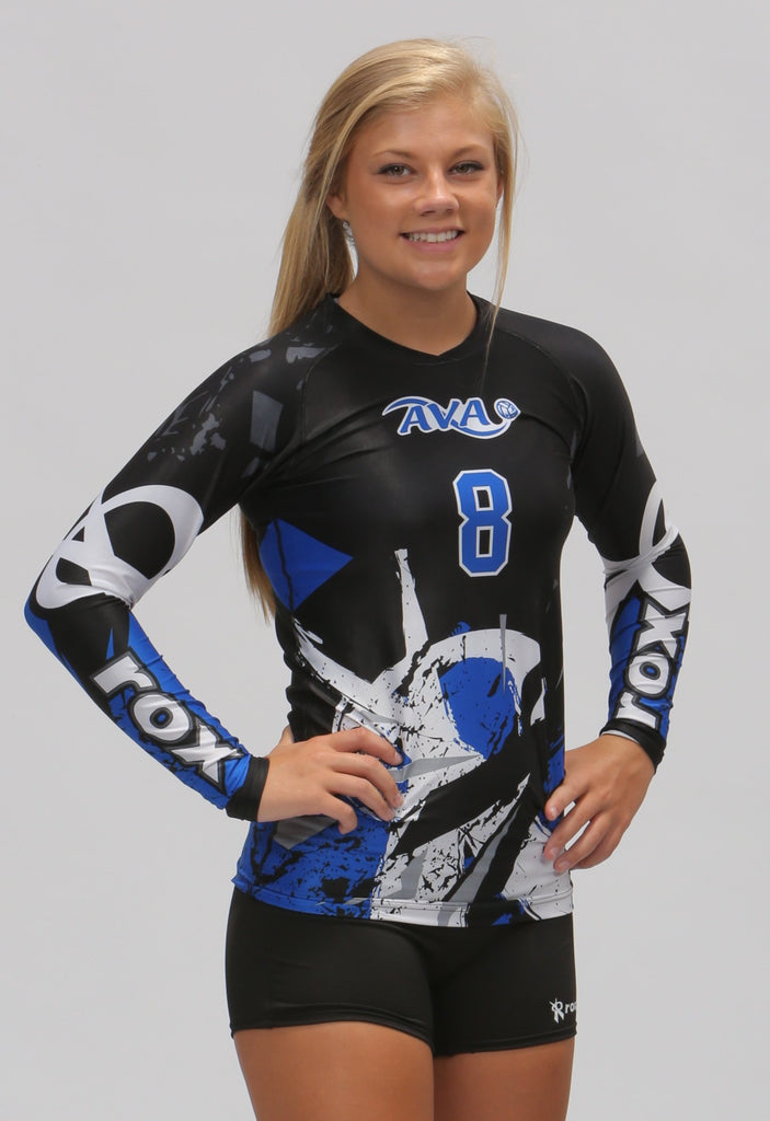 Rox Volleyball Shattered Sublimated Jersey Worn by AVA of Texas Volleyball Club