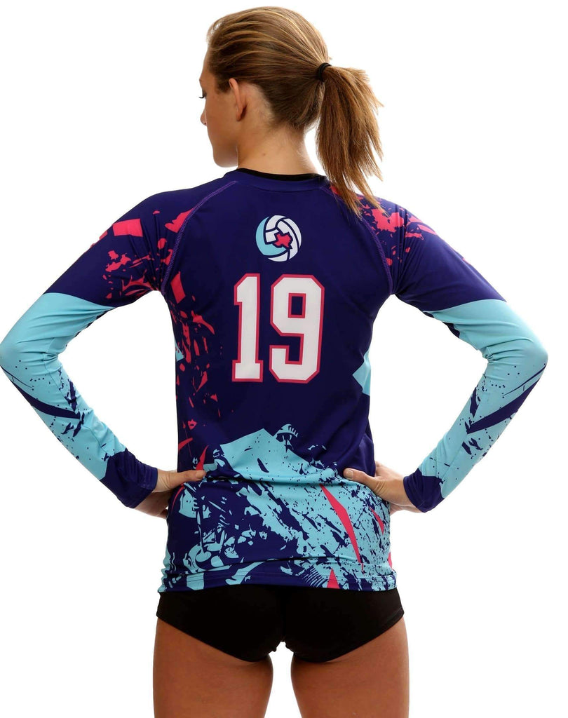 Shattered Women's Sublimated Volleyball Jersey