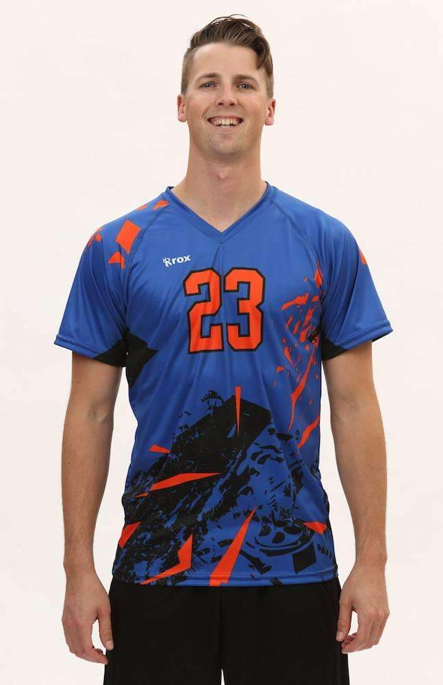 Shattered Men's Sublimated Jersey,Men's Jerseys - Rox Volleyball