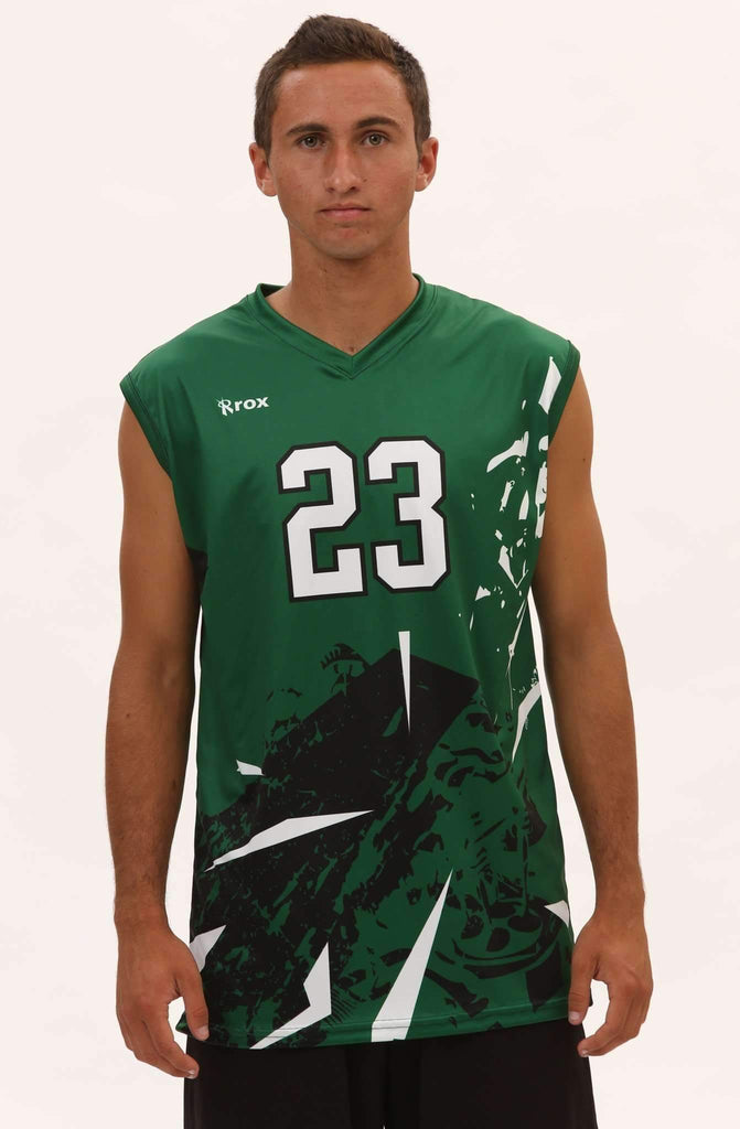 Shattered Men's Sleeveless Sublimated Jersey