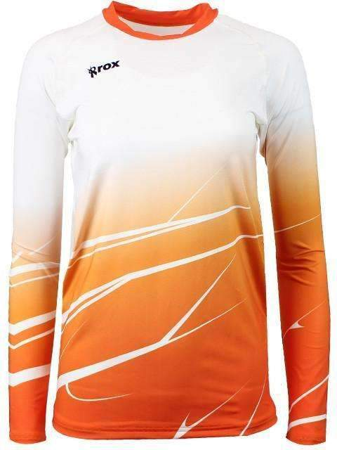 Orange Shade Long Sleeve Volleyball Jersey-Rox Volleyball