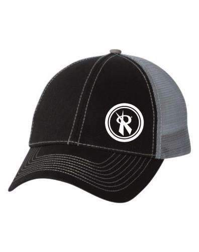 Trucker Cap Rox Two Tone Black/Grey Twill,Hats - Rox Volleyball