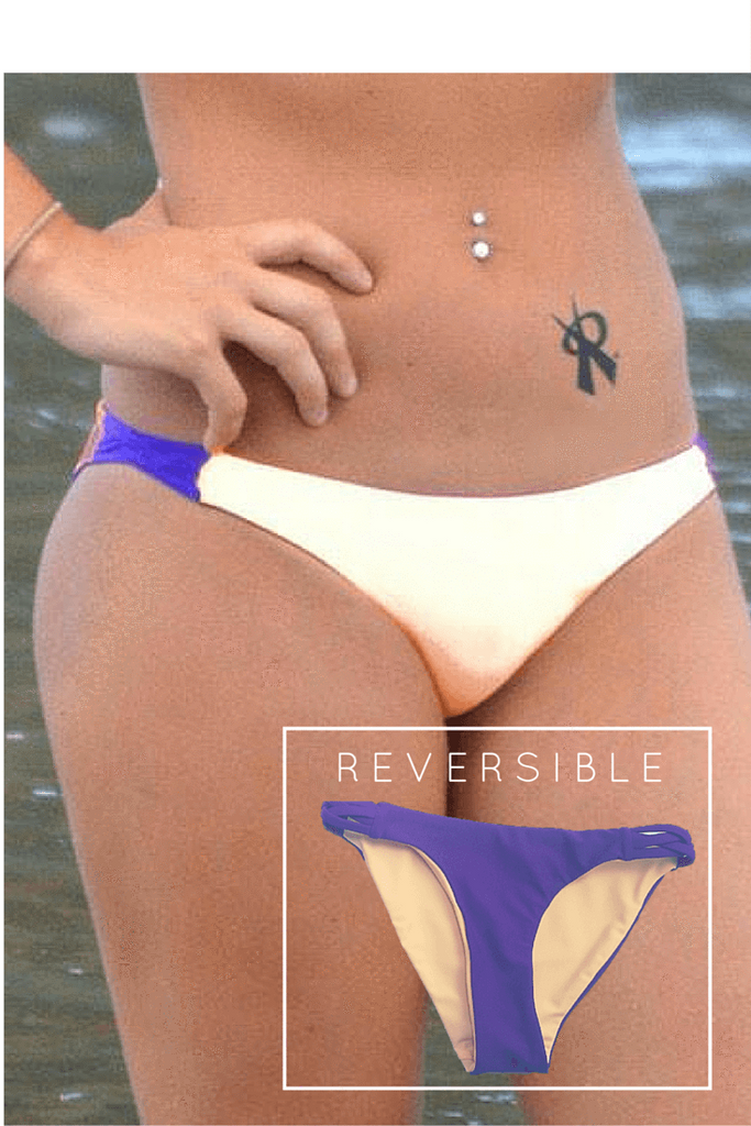 Twine Playtime/ Creamsicle Reversible Volleyball Bottom | 1469