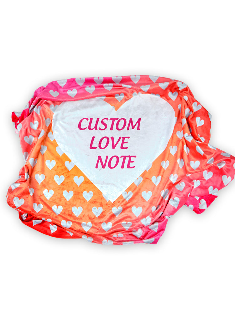 Heart Love Notes Blanket,Accessories - Rox Volleyball