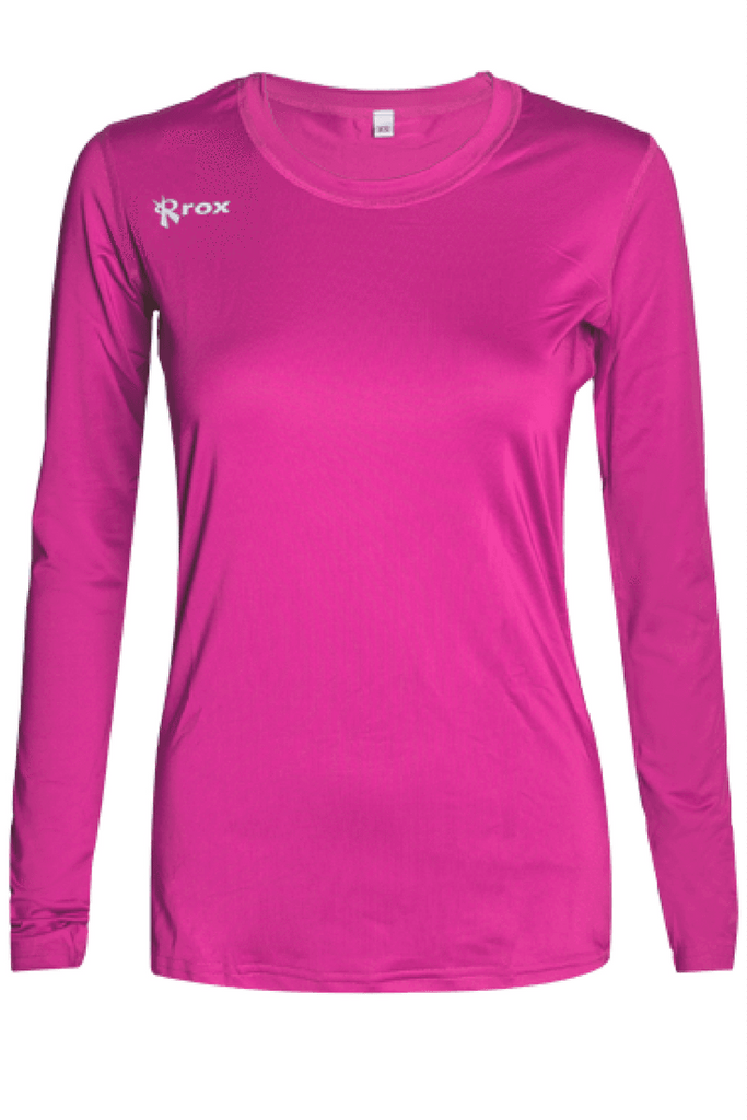 Voltaic Long Sleeve Jersey | 1261 Pink,Women's Jerseys - Rox Volleyball