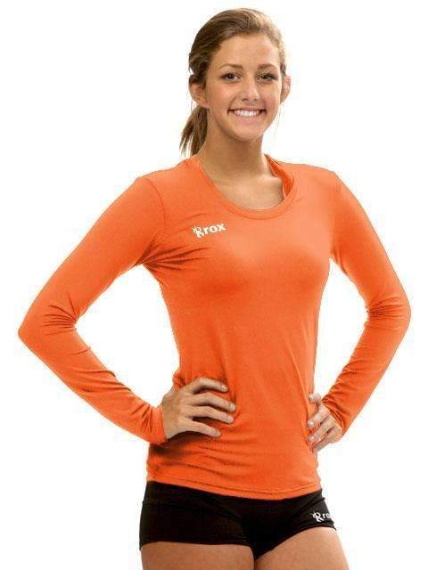 Voltaic Long Sleeve Jersey | 1261 Orange,Women's Jerseys - Rox Volleyball