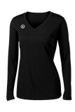 Fundamental Long Sleeve Volleyball Jersey | Black,Women's Jerseys - Rox Volleyball