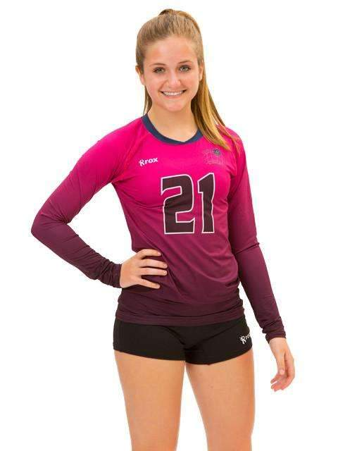 Fade Women's Sublimated Jersey,Custom - Rox Volleyball