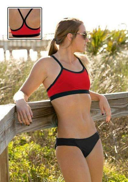 Maia Top | 1466 | Red/Black,Beach Tops - Rox Volleyball