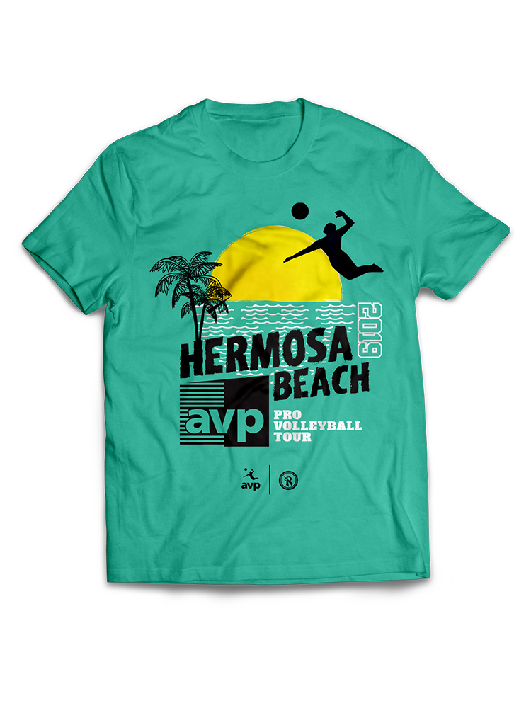 2019 AVP/RVB Event T Shirt (Hermosa Beach),AVP Items - Rox Volleyball