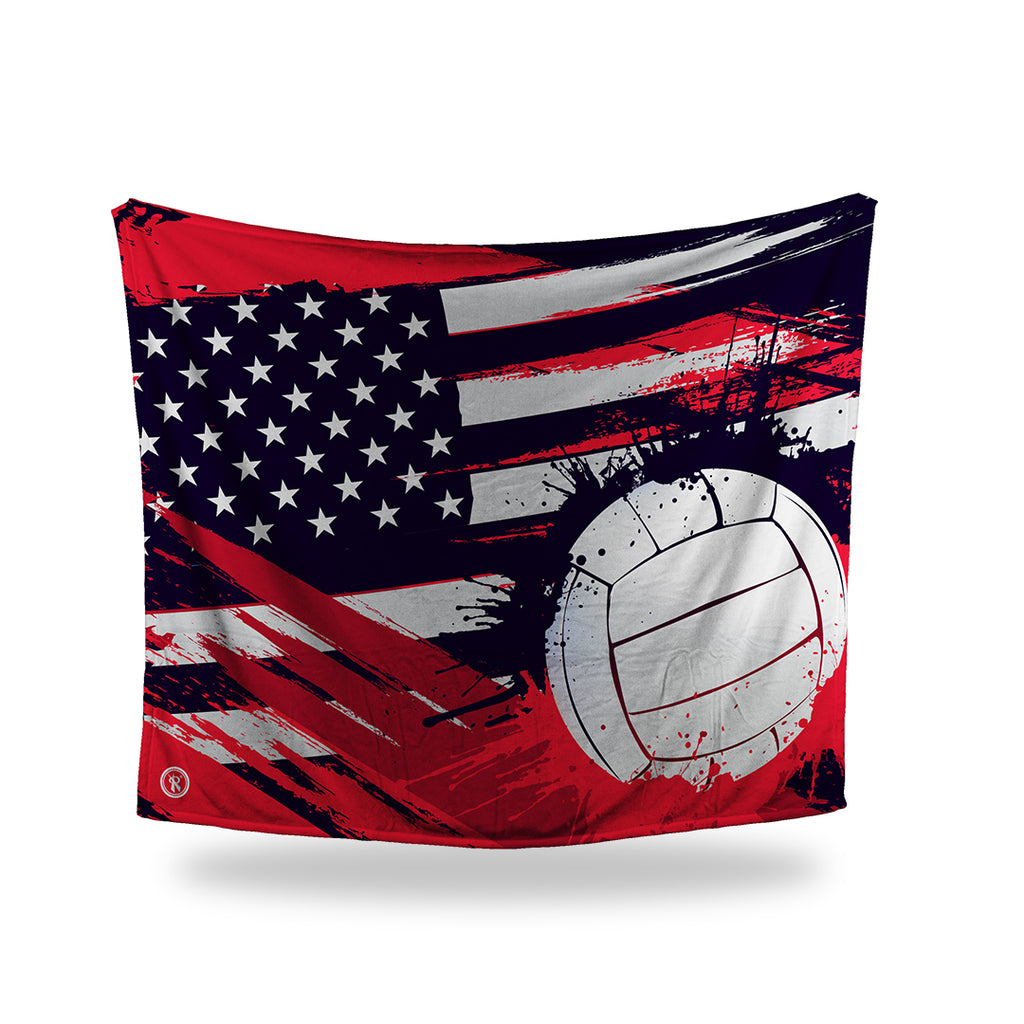 Veterans Day Volleyball Blanket