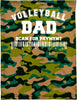 Volleyball Dad Camo Neck Buff