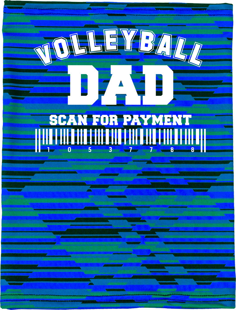 Volleyball Dad Camper Neck Buff