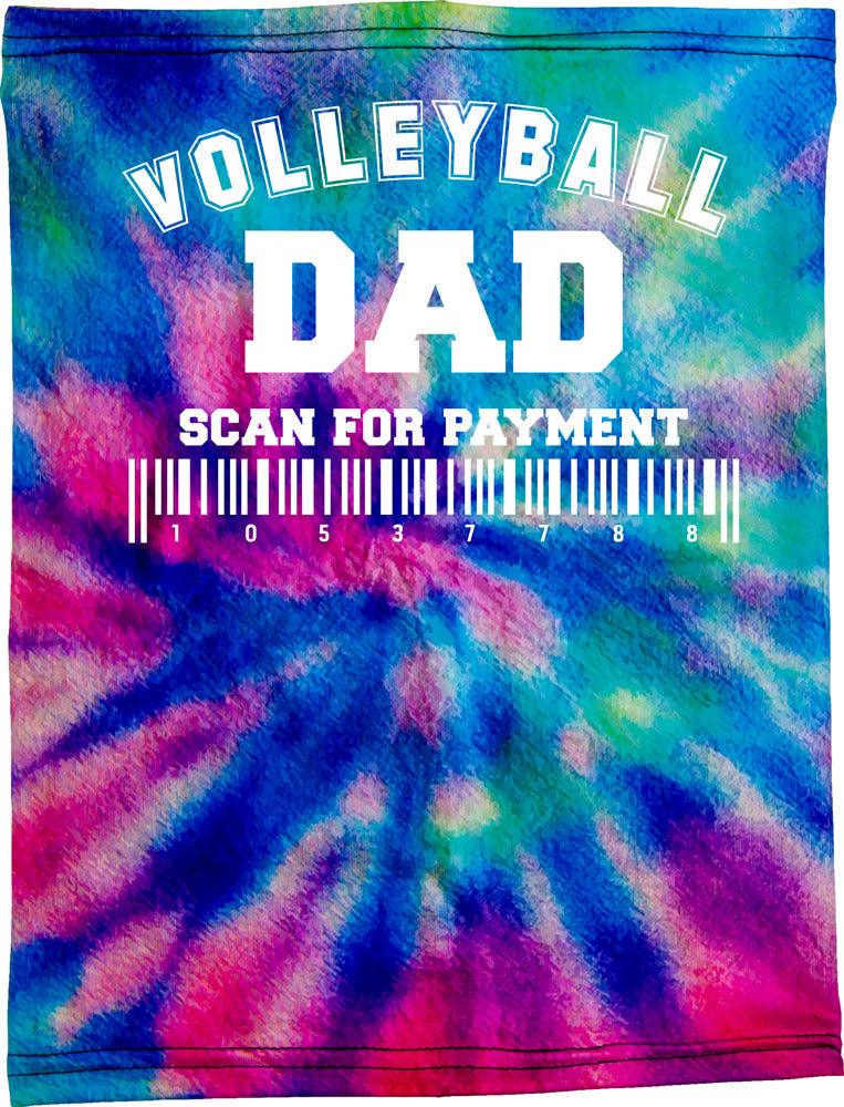 Volleyball Dad Be Happy Neck Buff