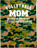 Volleyball Mom Camo Neck Buff