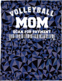 Volleyball Mom Triangle Camo Neck Buff
