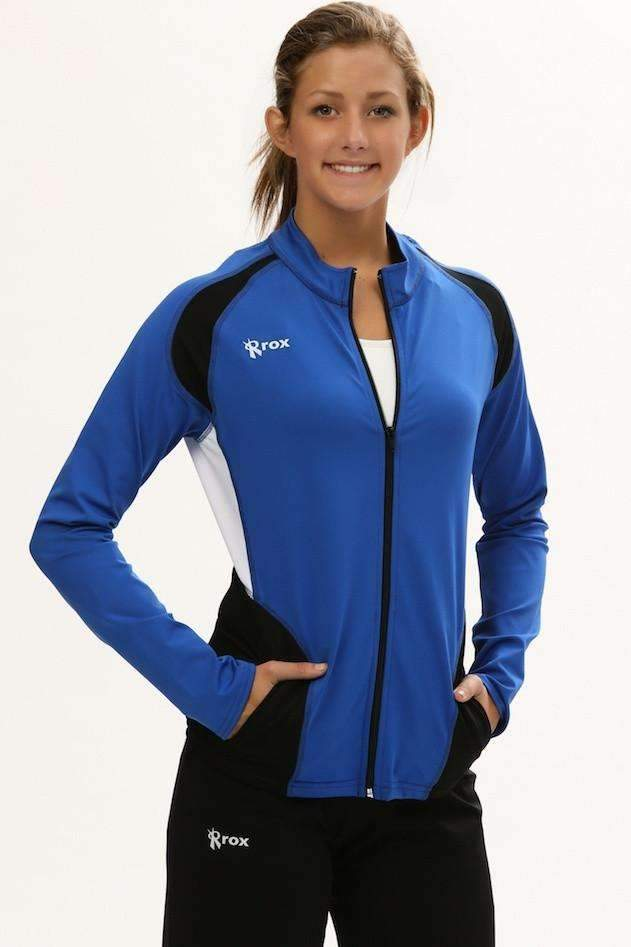 Push 1 Full Zip Jacket | Royal | 1372,Women's Jacket - Rox Volleyball