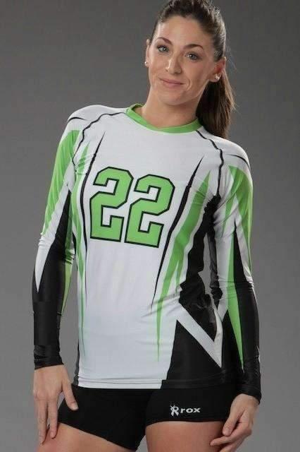 Quantum Women's Long Sleeve Sublimated Jersey,Women's Jerseys - Rox Volleyball