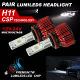 H11 LED Headlight KIT 168W 18500LM HIGH LOW Beam