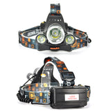 RECHARGEABLE HEADLAMP 6000LM 3T6 LED HEADLIGHT TORCH
