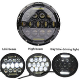 Pair 7inch 150W Hi-Low Beam DRL Led Headlight Lamp Harley Jeep Wrangler Philips