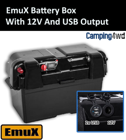 EmuX Battery Box 12v Dual USB Output