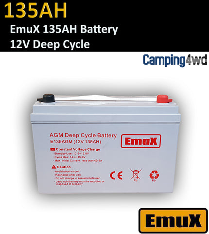 135AH EmuX AGM DEEP CYCLE BATTERY