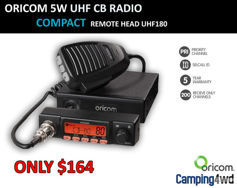 UHF180 Remote Head 5 watt UHF CB Radio