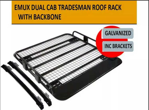 TRADIE Style Dual Cab Roof Rack with Brackets open ended