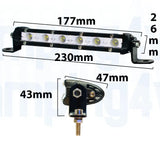 "7"" Super Slim Cree - Flood Lightbar 30w + wiring harness"
