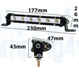 "Pair of 7"" Super Slim - Flood Lightbar"