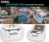 ENGEL Cooler / Drybox with Rod Holders