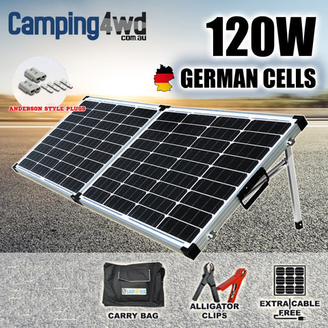 120w Folding Solar Panel Camping4wd