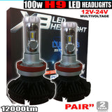 H9 100w LED Headlight Kit