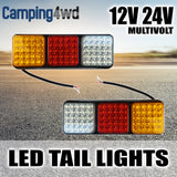 2x 75 LED Tail Rear Light 12V 24V Multivolt Trailer Truck Lamp Lights