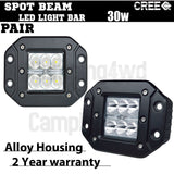 2x 30W Cree Flush Mount LED