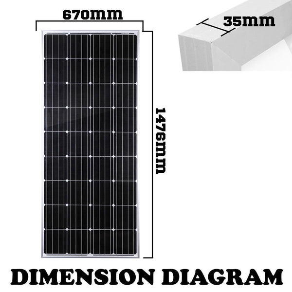 200w Solar Panel 12v Camping4wd