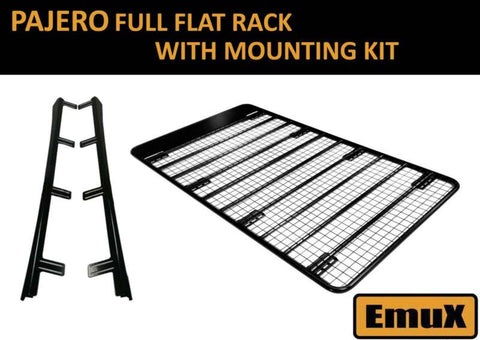 Pajero 2007 onwards FULL LENGTH FLAT ROOF ROOF RACK