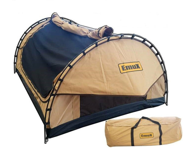 The New Emux Double Deluxe Swag 70mm Mattress With Canvas Bag