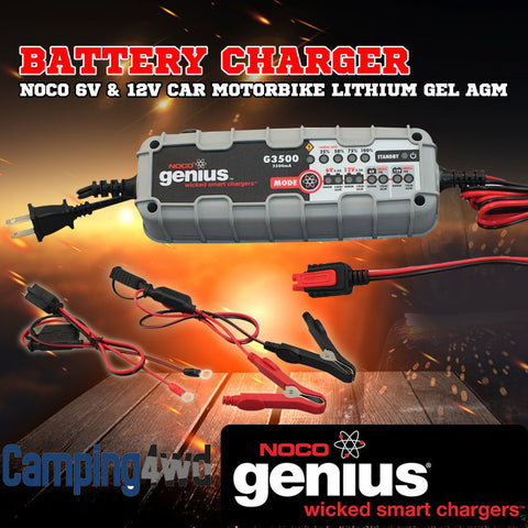 Genuine NOCO GENIUS G3500 6V/12V 3.5A Smart Battery Charger 3.5AMP
