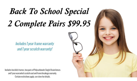 Back To School Special, 2 pairs for $99!