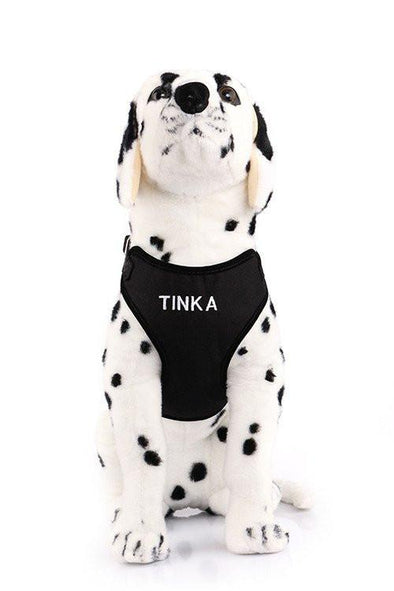 Canvas Mesh Harness - Custom Embroidered For Your Dog