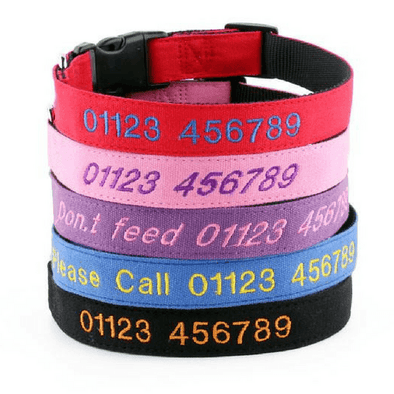 Latest Style Canvas Personalised Dog Collar
