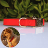 Red personalised metal & nylon Dog collar